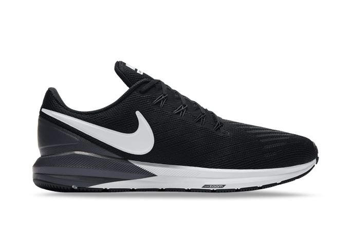 NIKE AIR ZOOM STRUCTURE 22 WOMENS BLACK WHITE-GRIDIRON