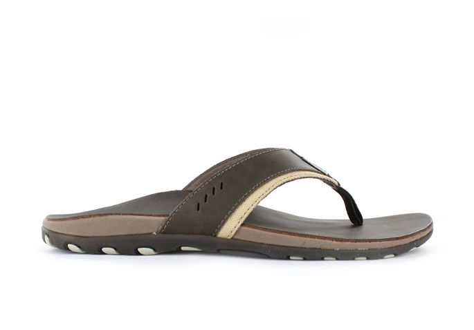 LIGHTFEET ORLANDO LEATHER MENS BROWN JANDAL