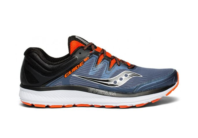 SAUCONY GUIDE ISO MENS GREY BLACK ORANGE