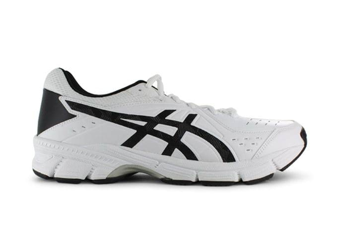 ASICS GEL-195TR LEATHER (2E) MENS WHITE BLACK SILVER
