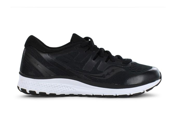 SAUCONY GUIDE ISO 2 KIDS BLACK WHITE