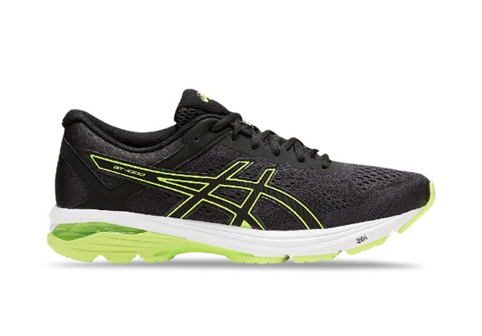ASICS GT-1000 6 (2E) MENS BLACK SAFETY YELLOW BLACK