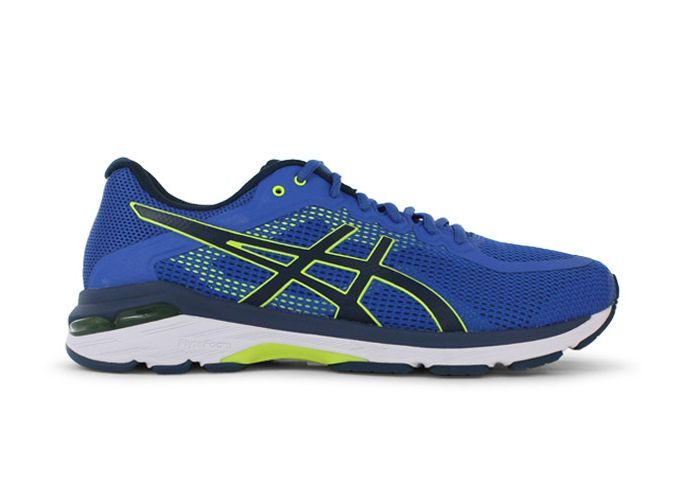 ASICS GEL-PURSUE 4 (2E) MENS VICTORIA BLUE SAFETY YELLOW