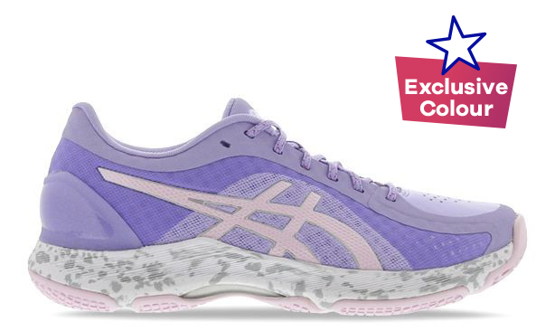 Purple ASICS netball shoe