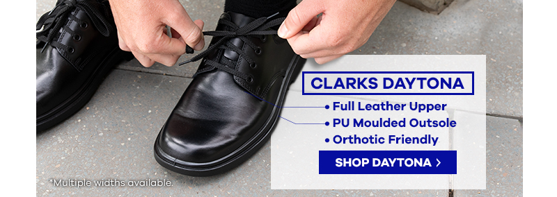 Clarks Daytona Black School Shoe | The Athlete's Foot