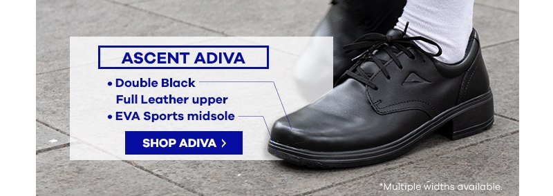 Ascent Adiva Black Senior School Shoe | The Athlete's Foot