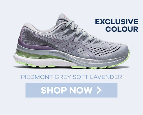 Asics Piedmont Grey Soft Lavender Gel Kayano 28