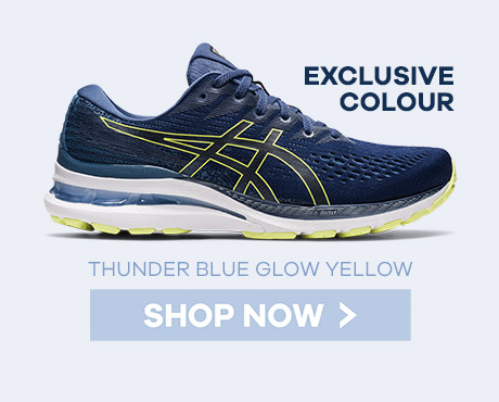 Asics Thunder Blue Glow Gel Kayano 28