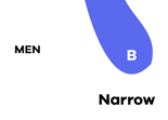 Mens Narrow shoes